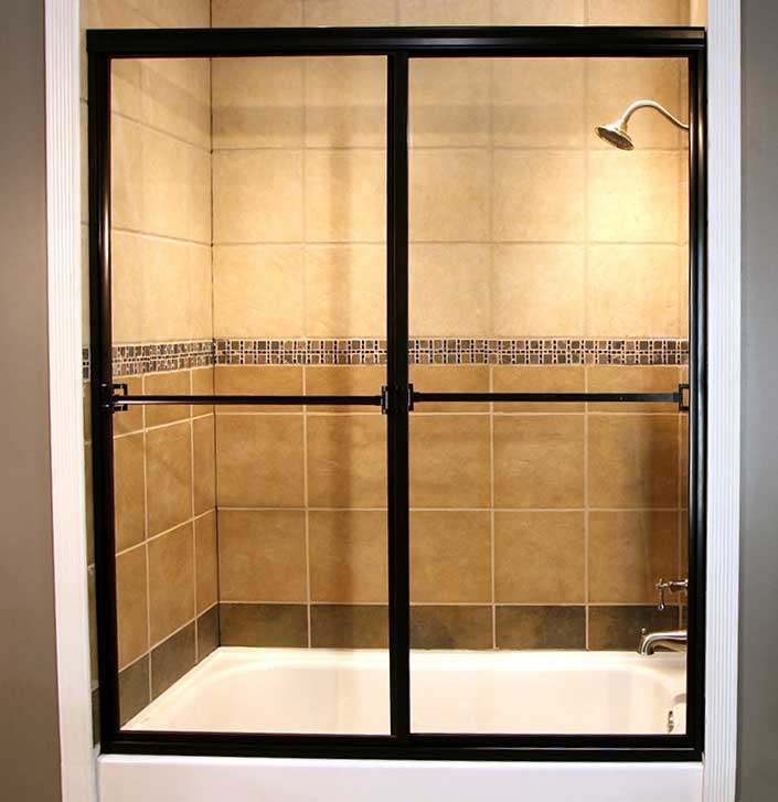 Framed shower installation