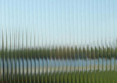 Reeded patterned glass